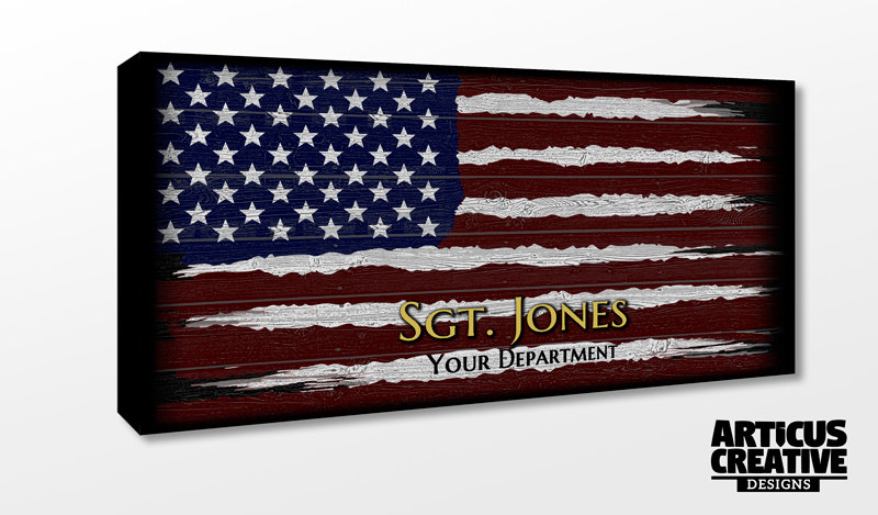 "13""x 24"" American Flag Canvas"