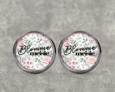 Brides Maid Pink Floral Earrings