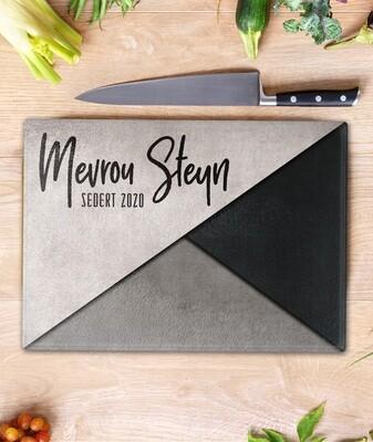 Modern Grey Glass Chopping Board