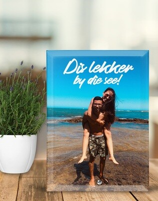 Lekker by die See Glass Photo Tile