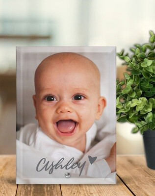 Baby Glass Photo Tile