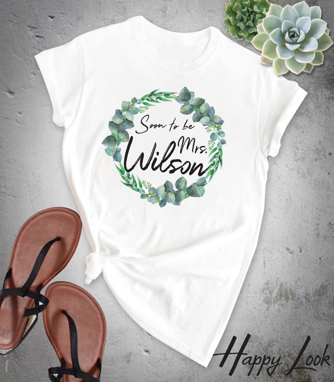 Blue Eucalyptus Bride T-shirt