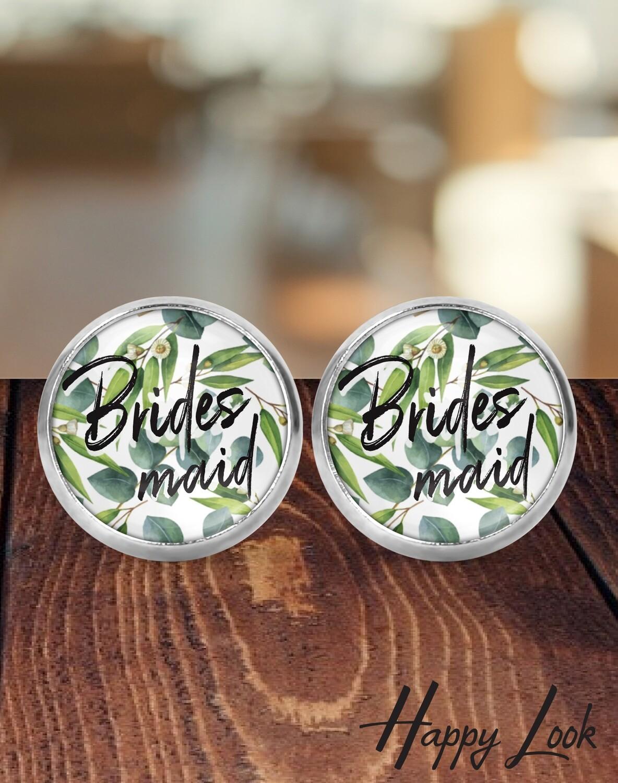 Blue Eucalyptus Bridesmaid Earrings