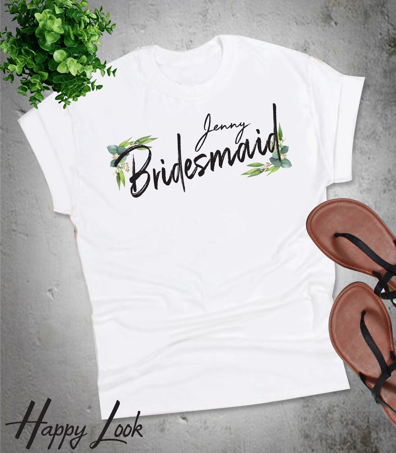 Blue Eucalyptus Bridesmaid T-shirt