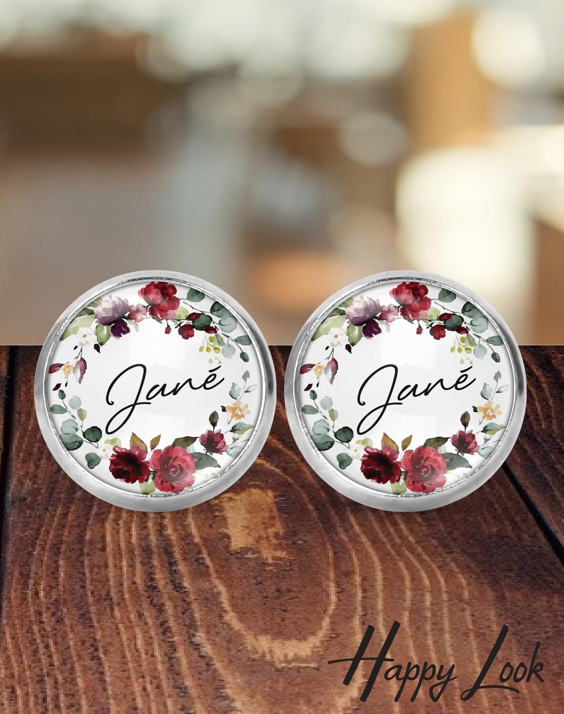 Burgundy Bride Earrings