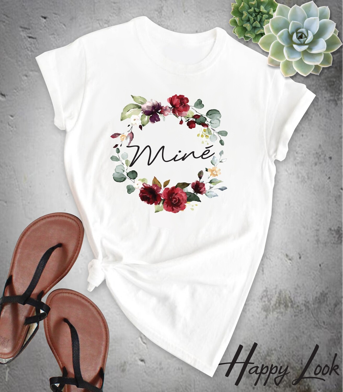 Burgundy Bride T-shirt