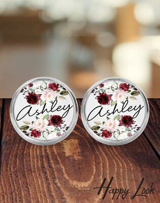 Burgundy Bridesmaid Earrings
