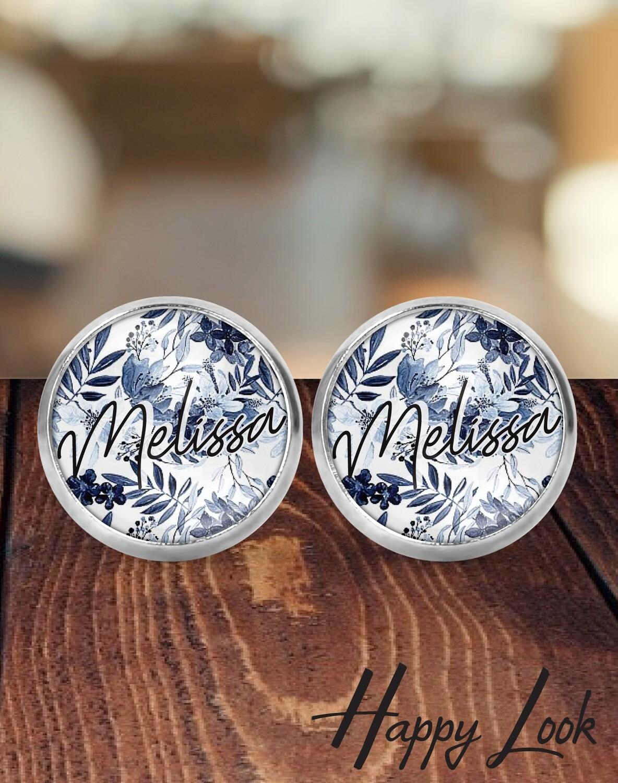 Navy Bridesmaid Earrings