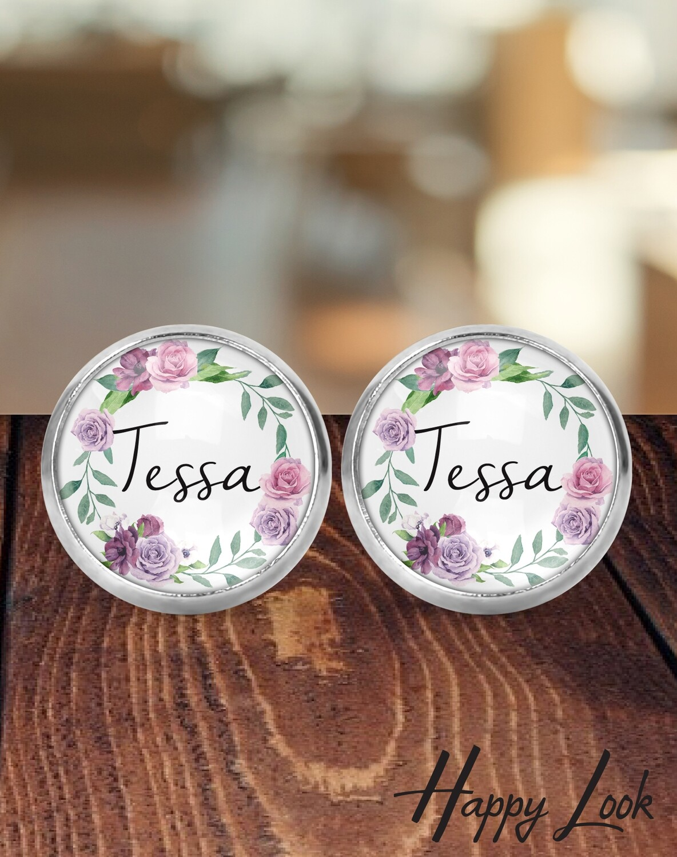 Mauve Bride Earrings