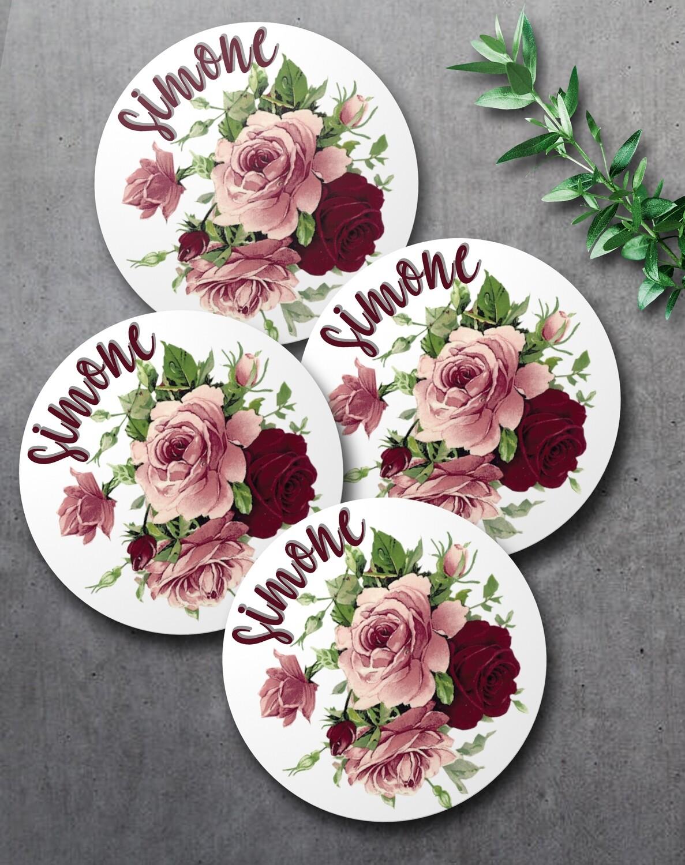 Floral Coaster Set (4)