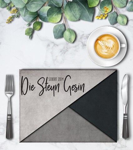 Modern family Placemat Set (4)