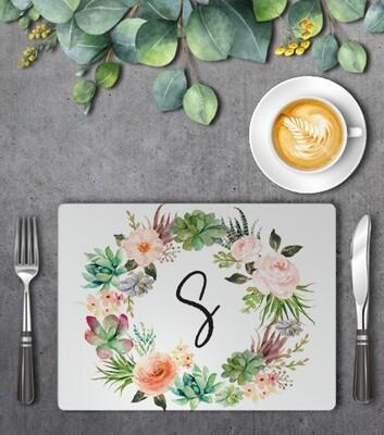 Floral Wreath Placemat Set (4)