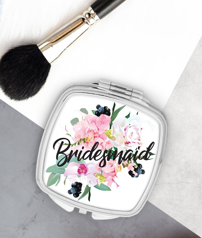 Personalized Bouquet Pocket Mirror