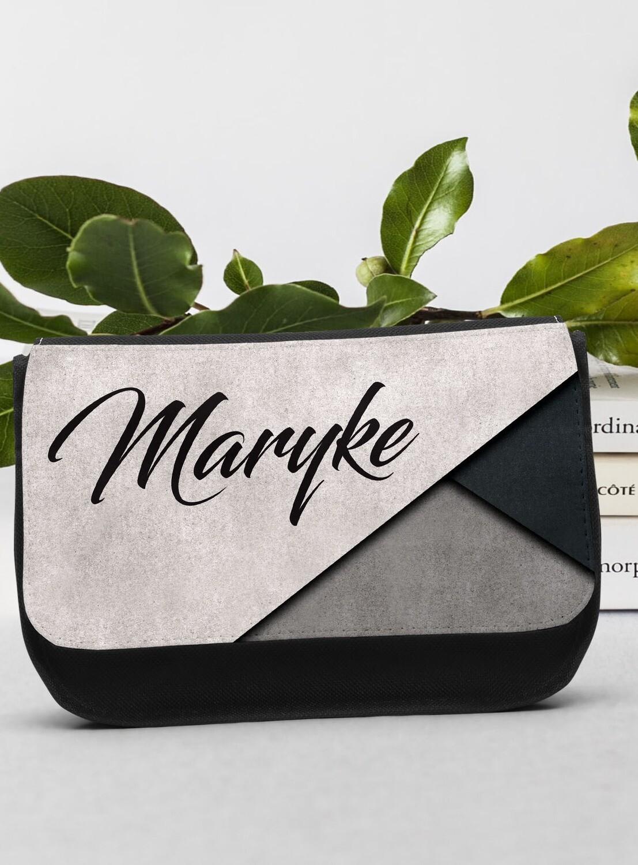 Personalized Modern Grey Make-up Bag