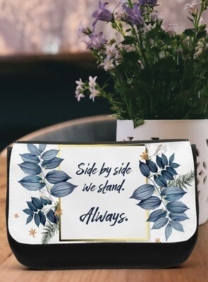 Personalized Blue Make-up Bag