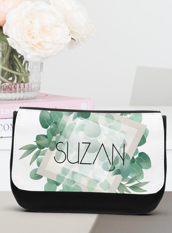 Personalized Eucalyptus Make-up Bag