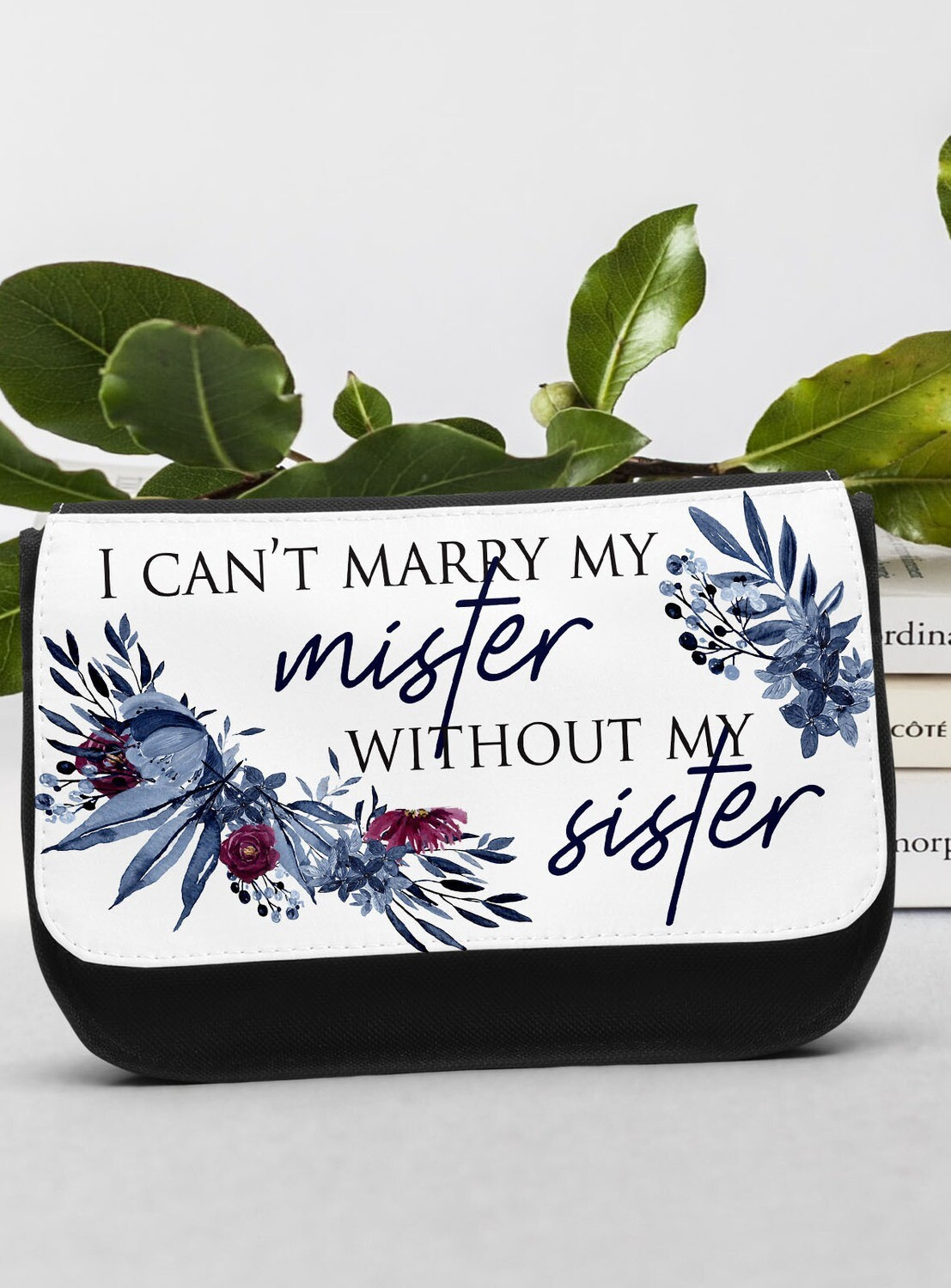 Personalized Navy Make-up Bag