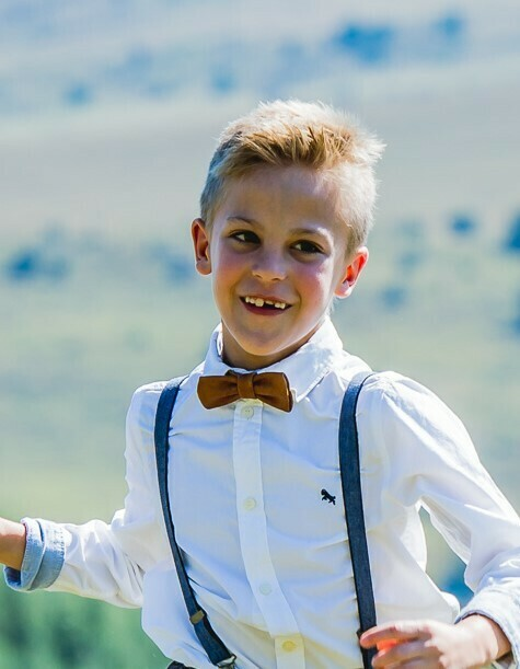 Ring Bearer Leather Bow Ties