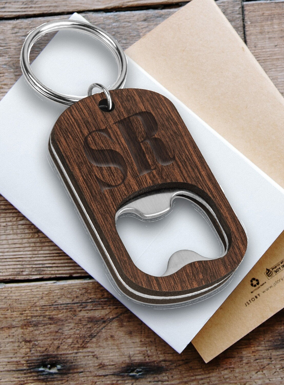 Personalized Initials Bottle Opener Keyring