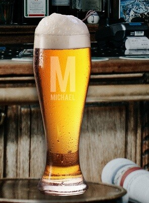 Personalized Name Beer Glass