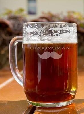 Personalized Groomsman Mustache Beer Mug