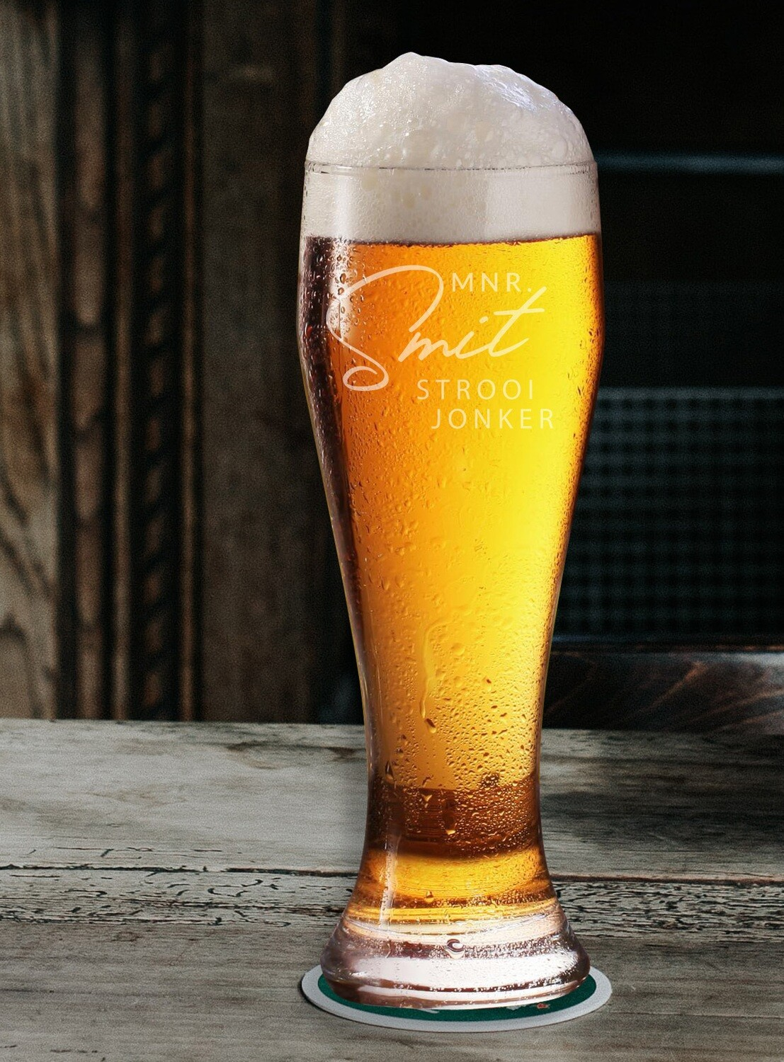 Personalized Surname Beer Glass