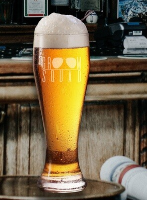 Personalized Groom Squad Beer Glass