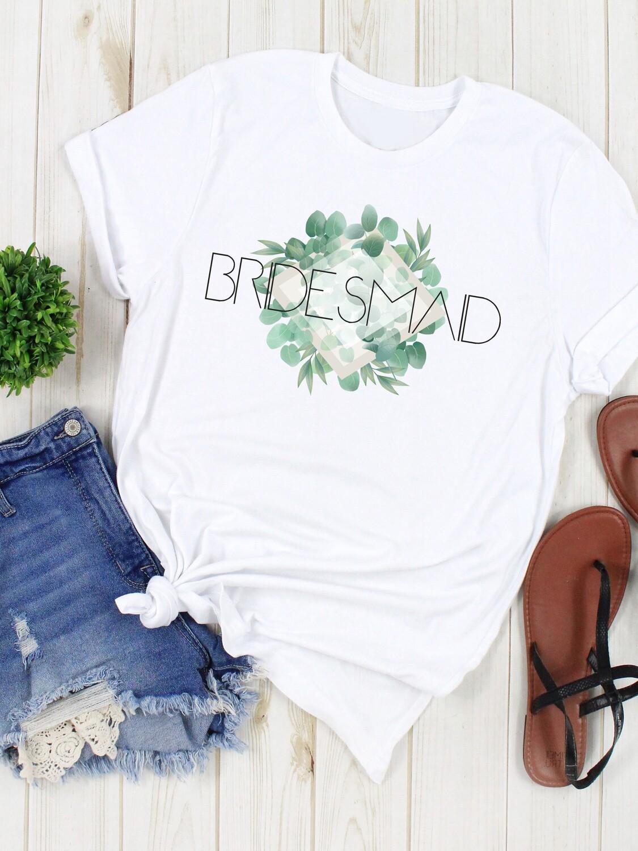 Personalized Eucalyptus Bridesmaid Tshirt