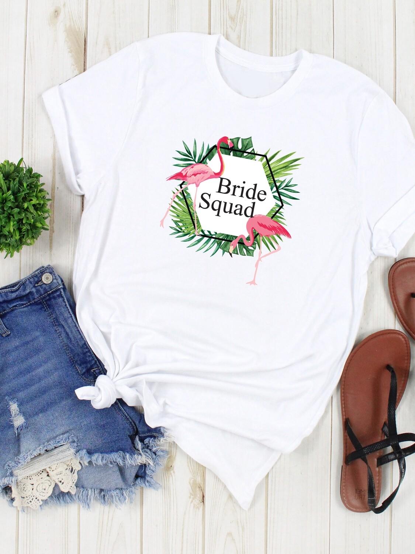 Personalized Tropical Bridesmaid Tshirt