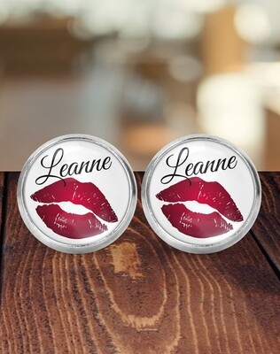 Personalized Lips Bridesmaid Earrings