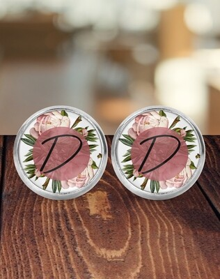 Personalized Pink Bridesmaid Earrings