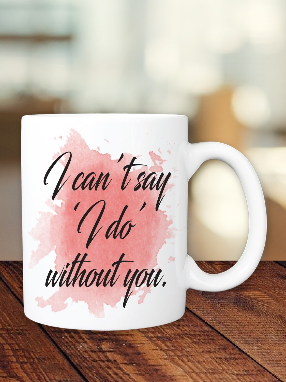 Personalized Watersplash Bridesmaid Mug