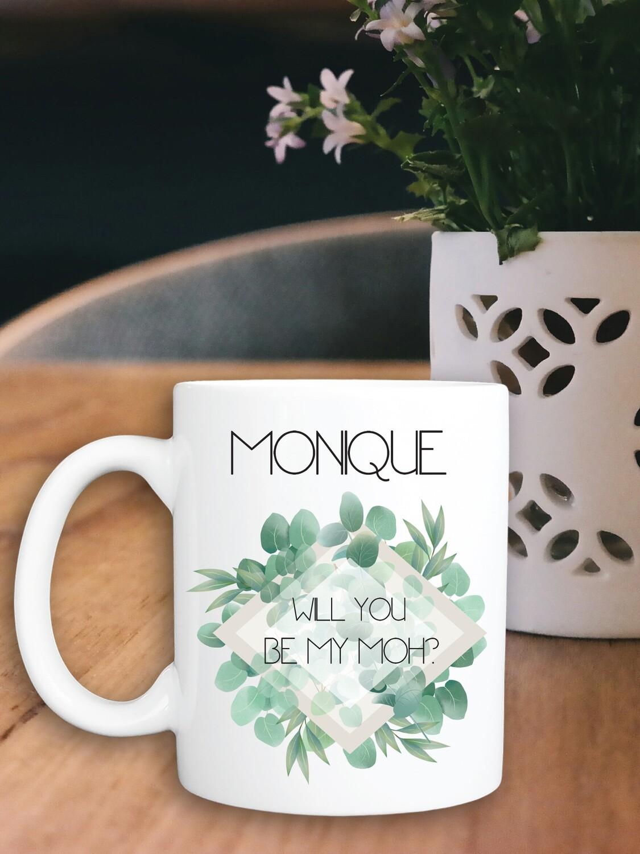 Personalized Eucalyptus Bridesmaid Mug