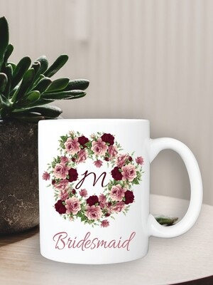 Personalized Roses Bridesmaid Mug