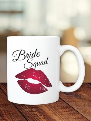 Personalized Lips Bridesmaid Mug