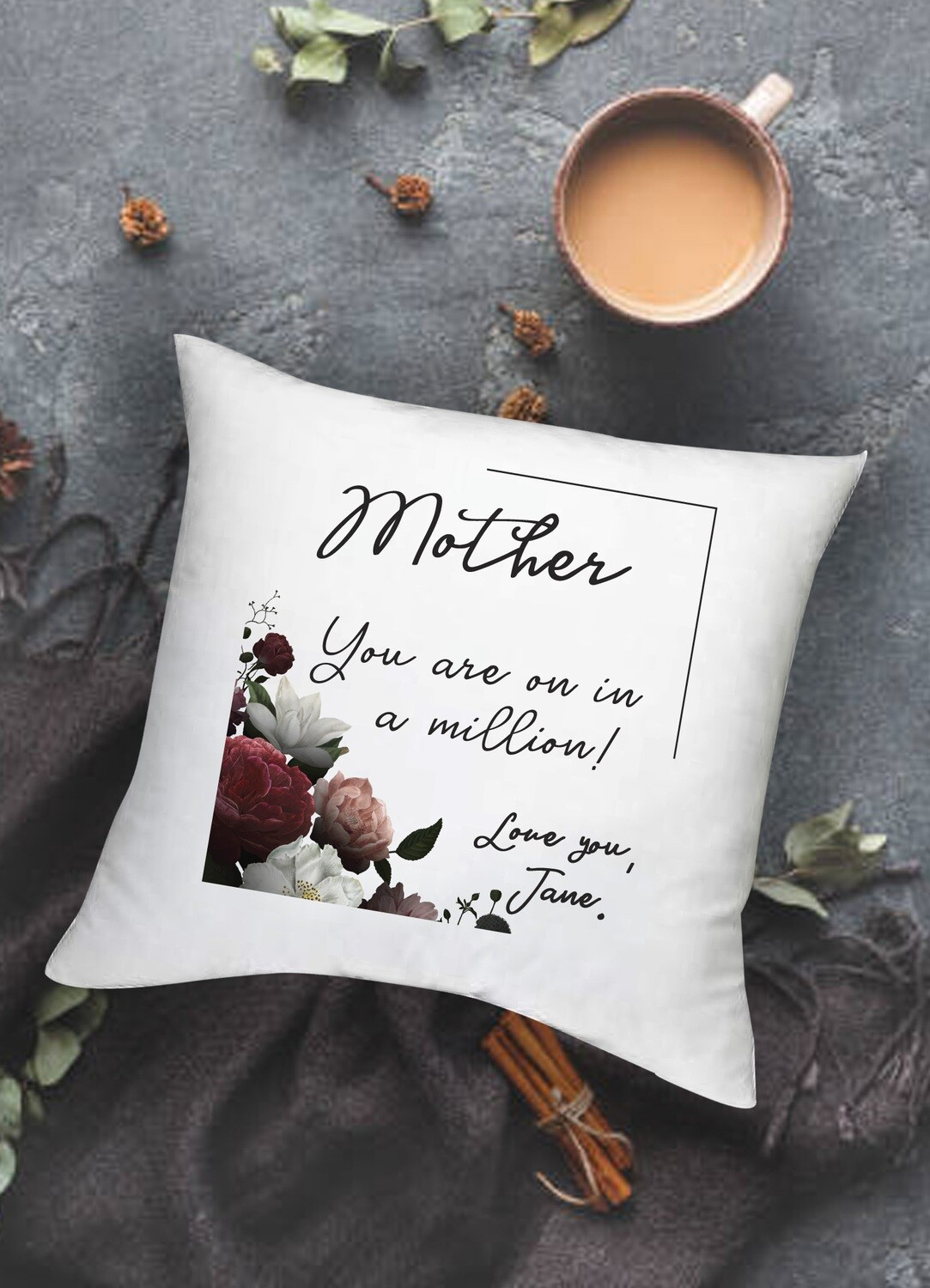 Personalized Floral Scatter Cushion