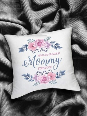 Personalized Wreath Scatter Cushion