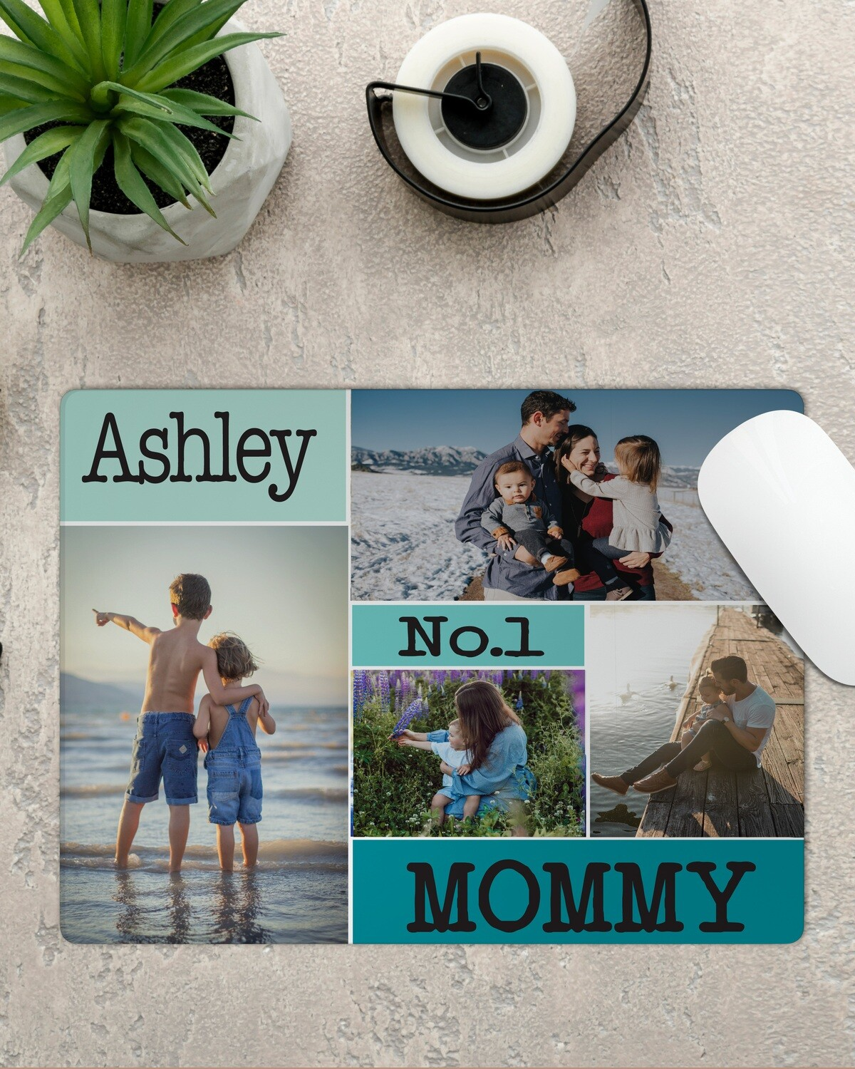 Personalized Photo Collage Mousepad