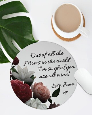 Personalized Floral Mom Mousepad