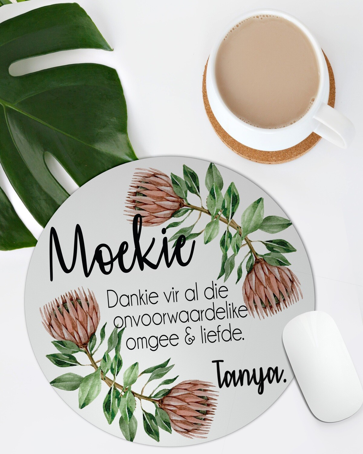 Personalized Protea Mom Mousepad