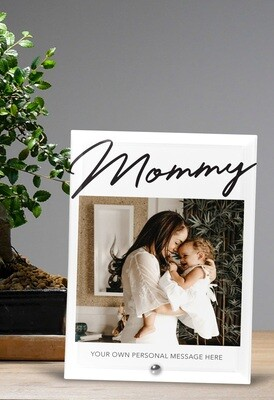 Personalized Mommy Photo Glass Tile