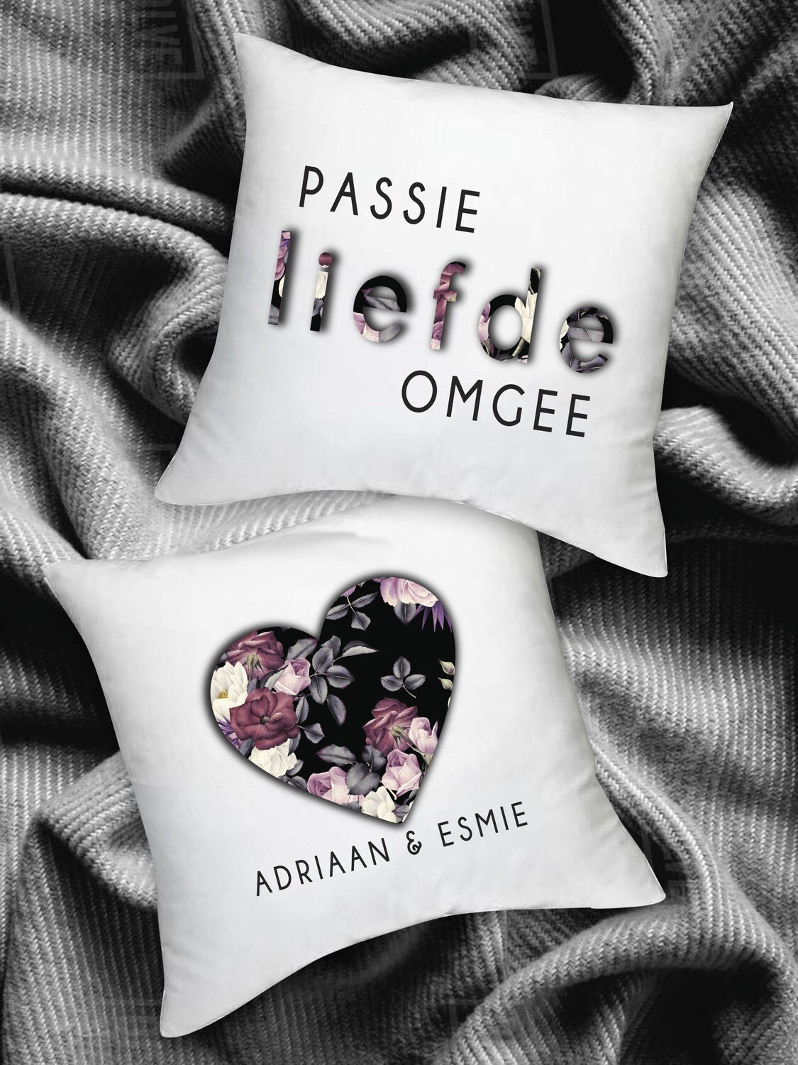 Personalized Floral Scatter Cushion Set