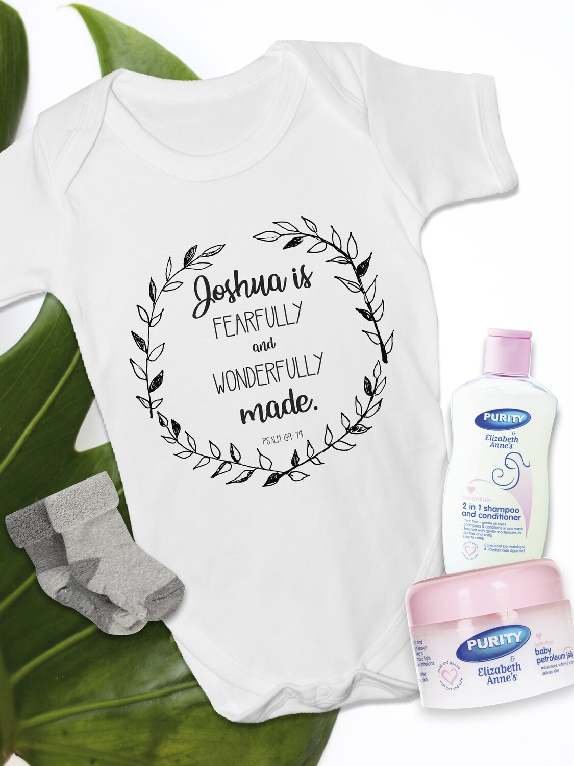 Personalized Wonderfully Made Baby Vest