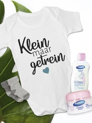 Personalized Klein maar Getrein Baby Vest