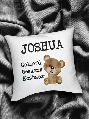 Personalized Bear Baby Scatter Cushion