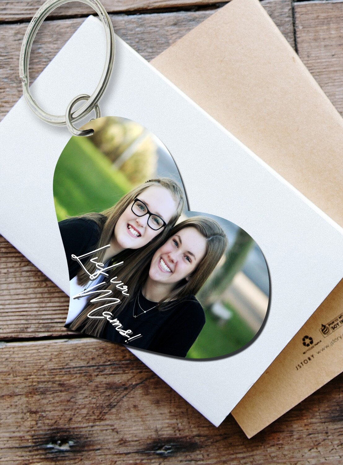 Personalized Photo Key Ring