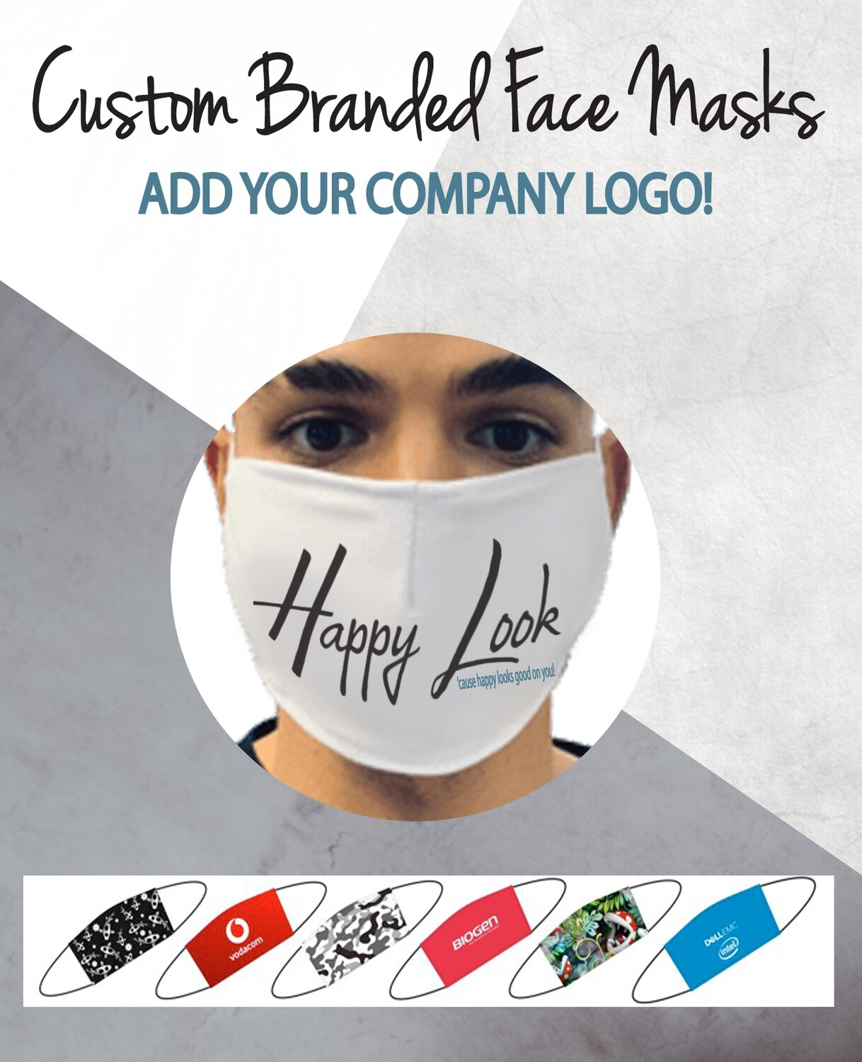 Custom Branded Face Mask  (Bulk - 100 units or more)