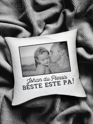 Personalized Best Dad Photo Scatter Cushion