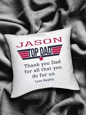 Personalized Top Dad Scatter Cushion