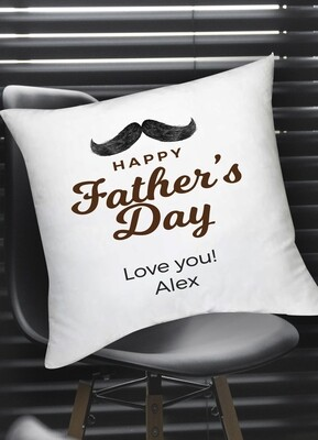 Personalized Mustache Scatter Cushion
